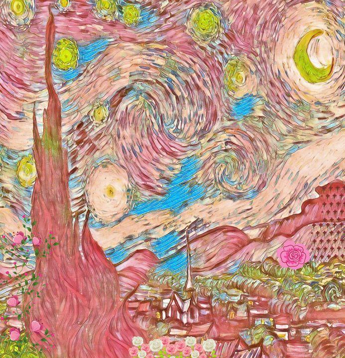 The Starry Night -- Rose - Art4u2