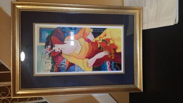 Lady In Yellow Dress Hand Signed - Moe Green's