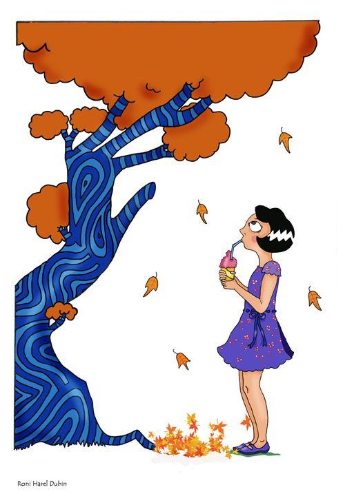 Girl with tree - Amanut