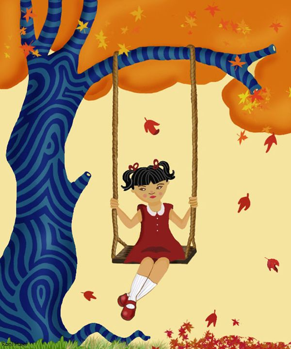 girl on a swing - Amanut