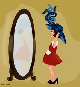 Girl with mirror 1