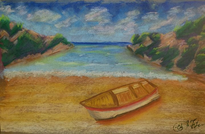 Boat on the Shore - Christopher Falcon Artistry