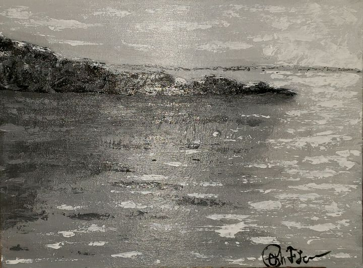 Jetty (in shades of black and white) - Christopher Falcon Artistry