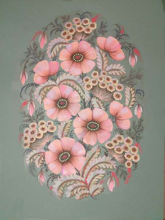 Poppies among dill - Anastasiia Chudnivets