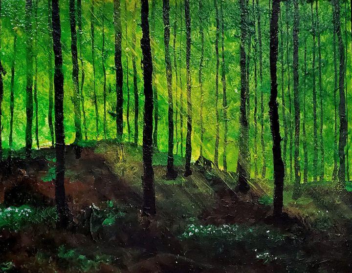 Idyllisk skov med anemoner - Lind Whitby Studios