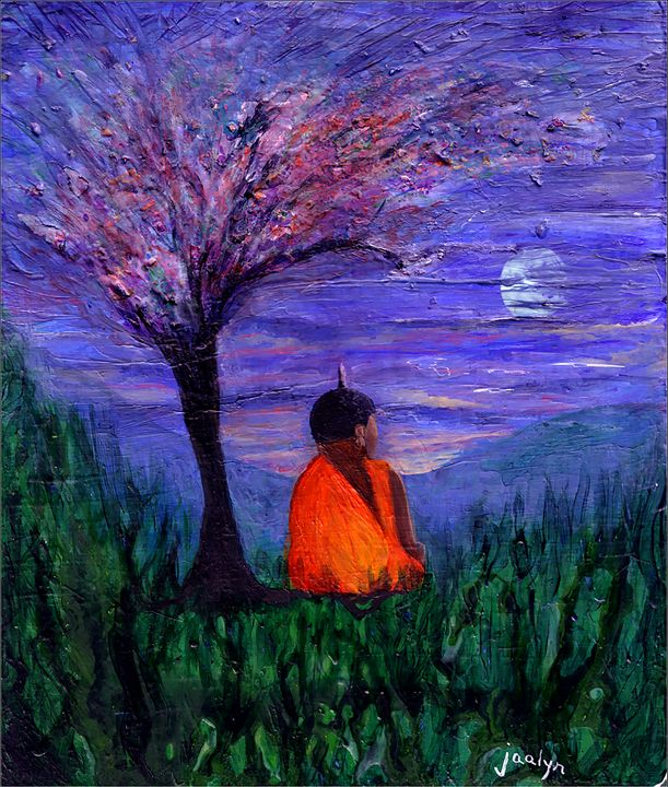 Buddha Under a Plum Tree - Lind Whitby Studios
