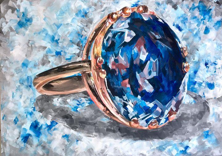 Sapphire Ring - Ella Lina Art