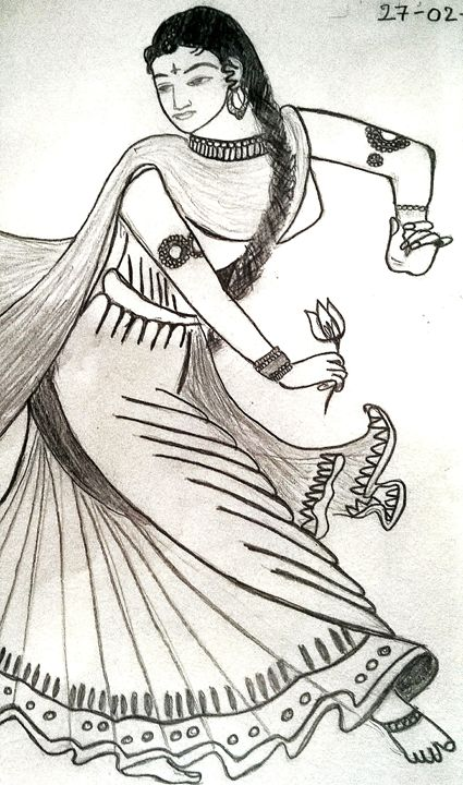 traditional dancer - vicky sketches