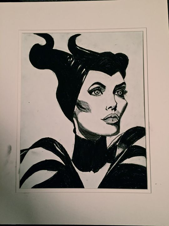 "Angelina Jolie as ""Maleficent"" - Artwork by Gabriel Corona"