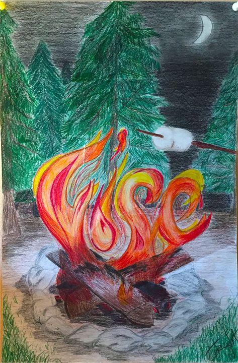 Obvious Fire - Artwork by Gabriel Corona