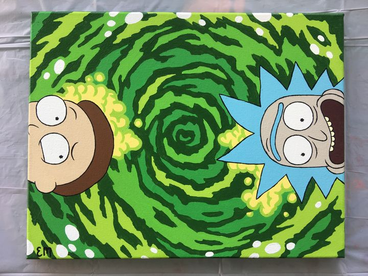Rick and Morty in the Portal - EvelynMerida