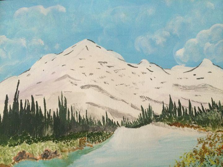 Beautiful snowy mountains - Art work