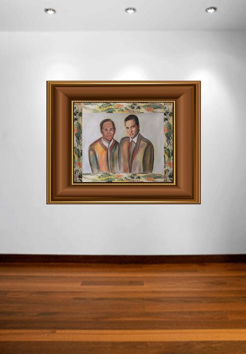 Father and Son, the Douglas' - Amy Koch Johnson- May Art