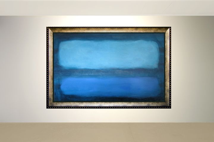Blue Over-sized Contemporary Art - Amy Koch Johnson- May Art