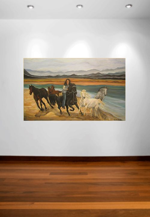 Wild Horses Running Free, Original A - Amy Koch Johnson- May Art