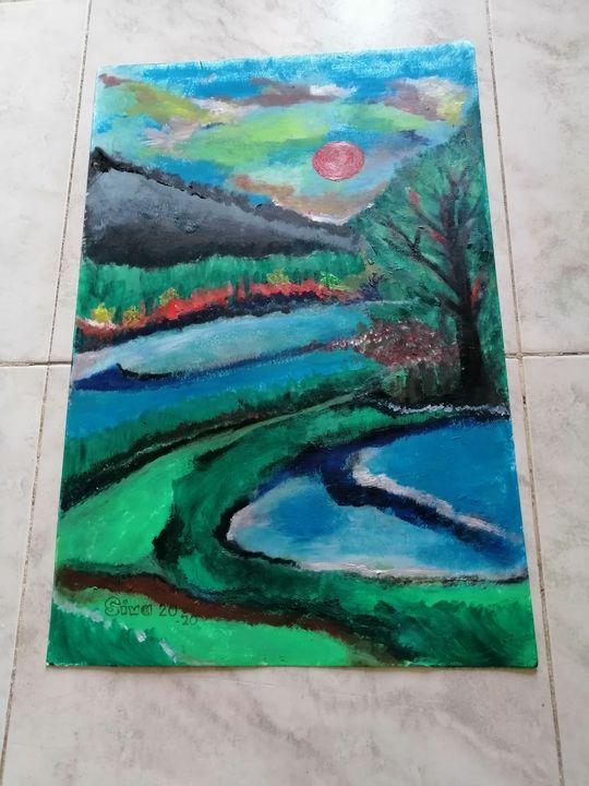 Water curve - Siva's Arts