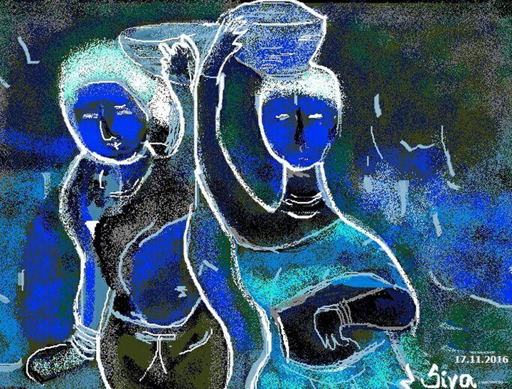 drinking water - Siva's Arts