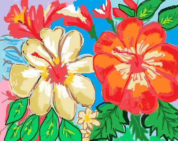 Beautiful flowers - Siva's Arts