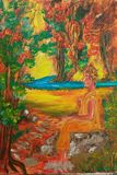 Original Buddha  oil painting