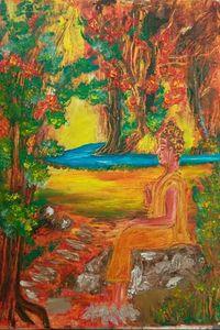 Original  Buddha in forests