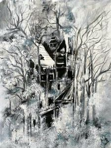 Lonely house in the forest