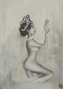Nude old style  dancing  girl.