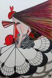 Cubist lady original artwork