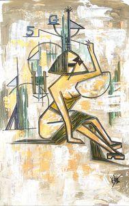 Cubist lady gold