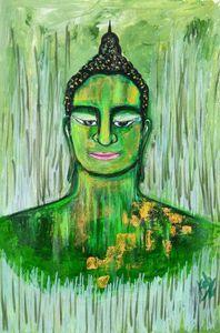 Green great Buddha