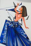 Original  drawing  cutbist lady