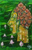 Original painting Buddha