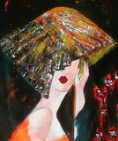 Beautiful  lady  painting