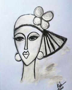 Lady drawing 1