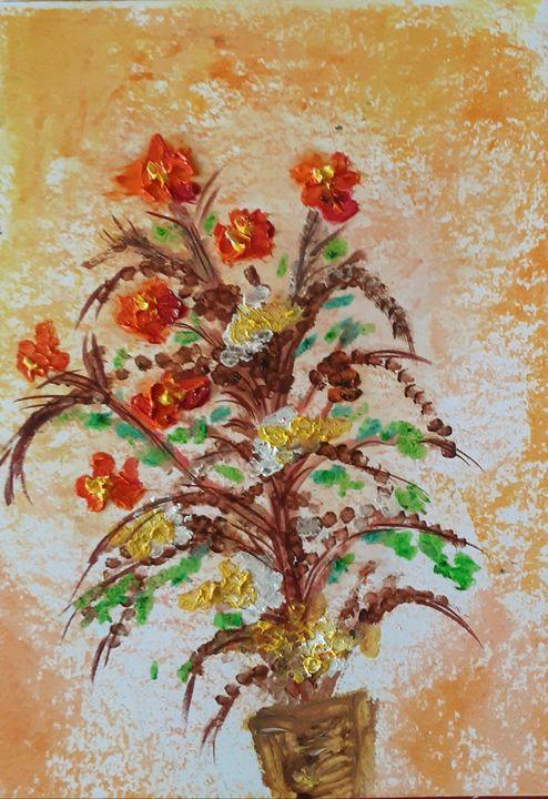 Flower oil painting - Kob
