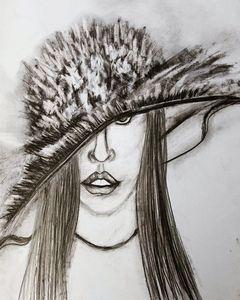 Lady art charcoal