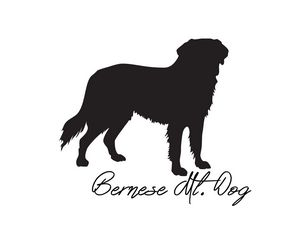 Bernese Mt. Dog Silhouette