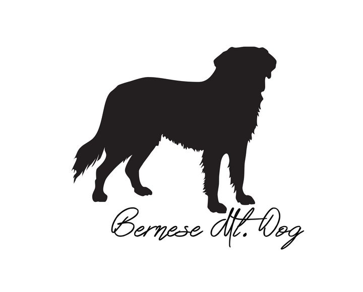 Bernese Mt. Dog Silhouette - Areca Pet Shop