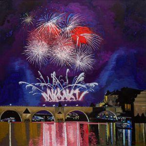 Fireworks. New Year. Prague - Ivan Klymenko