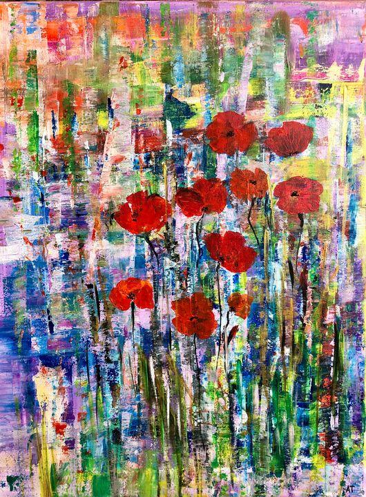 Poppies family - Angela Tocila Art