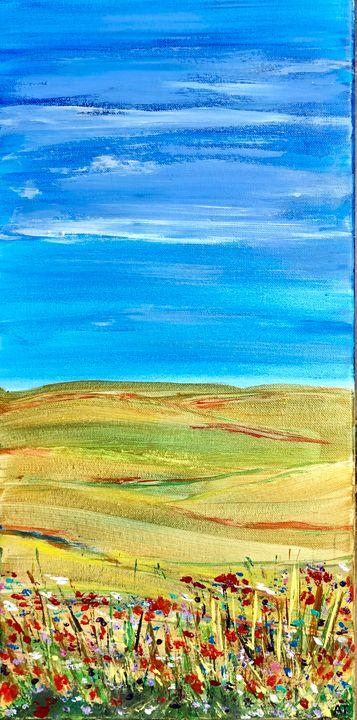 Golden fields - Angela Tocila Art