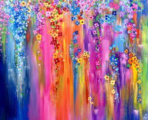 Spring flowers cascades - Angela Tocila Art