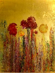 Golden Garden - Angela Tocila Art