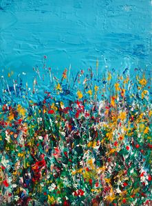 Summer on the field - Angela Tocila Art