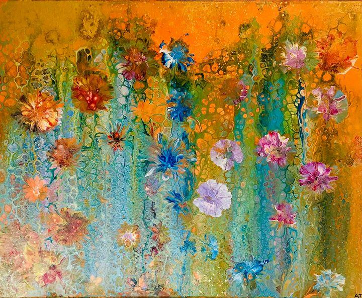 Orange Garden - Angela Tocila Art