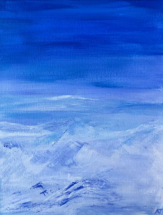 On the top of the world - Angela Tocila Art