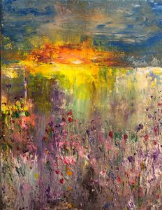 Sunset on the lake - Angela Tocila Art