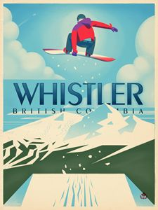 "Vintage Whistler ""Snowboard Booter"""