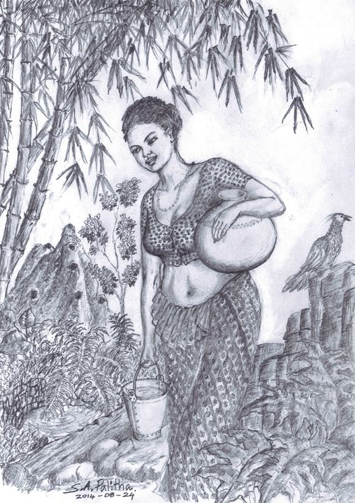 Tikiriliya - Palitha pencil Art