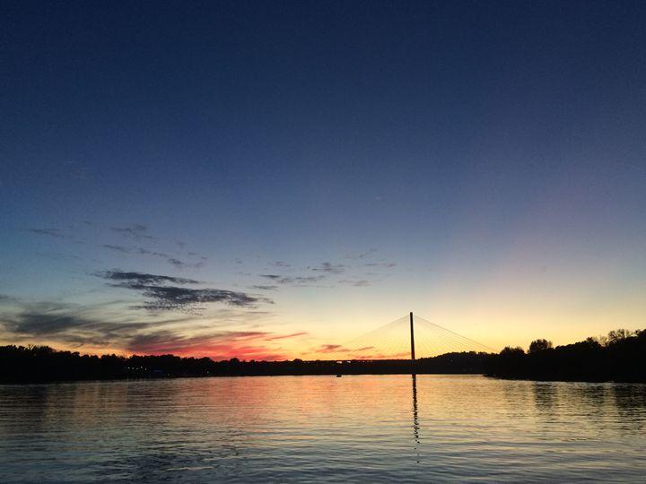 Night Sky on the Ohio River - Shirley Lynn
