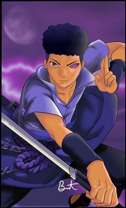 Sasuke (Naruto) black print - @brentthecreator gallery
